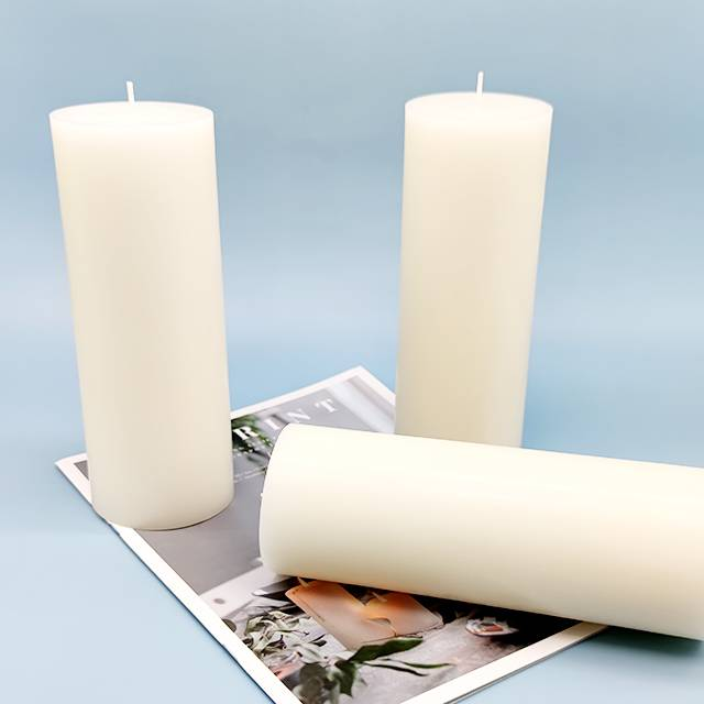 Bottom price Yankee Candle Wedding Day - 7.8 inch height Paraffin wax pillar candle – Winby