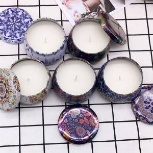 Excellent quality Scent Glass Candle - Custom travel tin jar scented candles – Winby