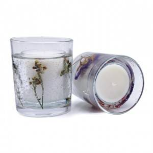 Excellent quality Promotional Gift Candle - Dried flower unique design glass gel wax fragrant scented candle – Winby