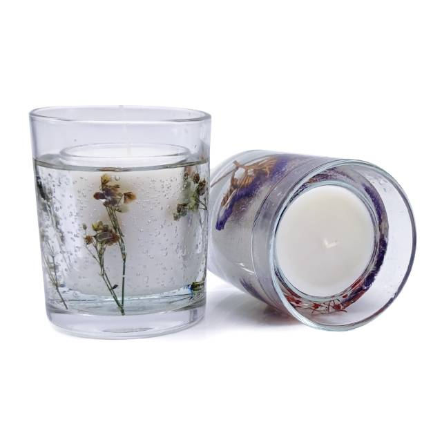 Well-designed Frosted Glass Candle - Dried flower unique design glass gel wax fragrant scented candle – Winby