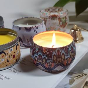Professional Design Tumbler Candles - Portable Scented Tin Gift Candles with natural soy wax – Winby