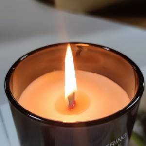 Soy wax glass scented candle