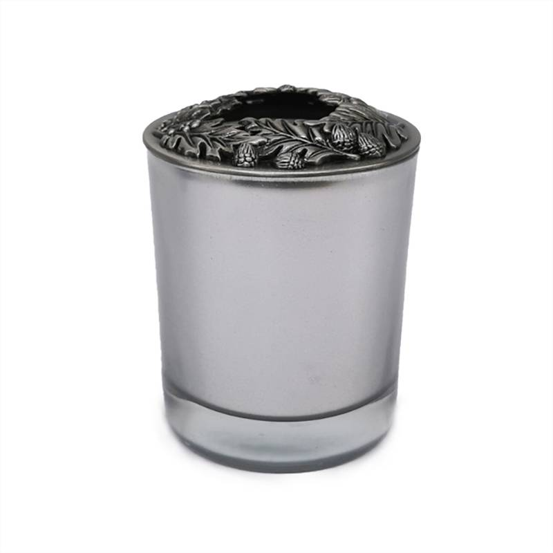 Factory source Aroma Candle - Electroplated silver glass candle with metal lid – Winby Featured Image