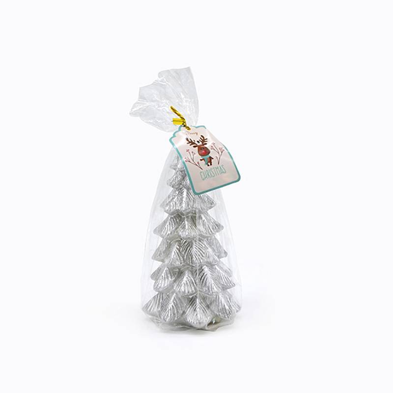 Super Purchasing for Pet Eliminator Candle - Silver Christmas tree art candle – Winby