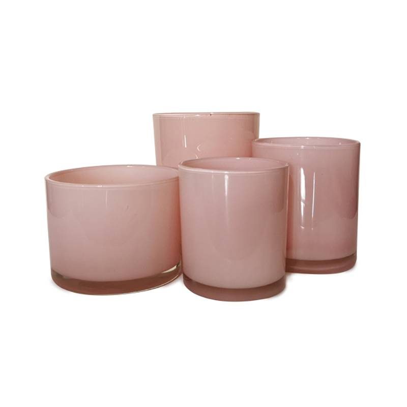 multi-size sprayed polish glass candle containers Featured Image