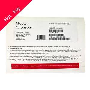Microsoft Windows 10 pro OEM package