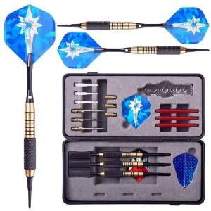 Soft Tip Darts with Plastic Tips Dart Set Complete Set 3 Darts Steel Tip Darts for Professionals | WIN.MAX