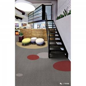 Factory making Red And Black Carpet -