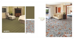 K1071 K1059 Guest Room Axminster Carpet
