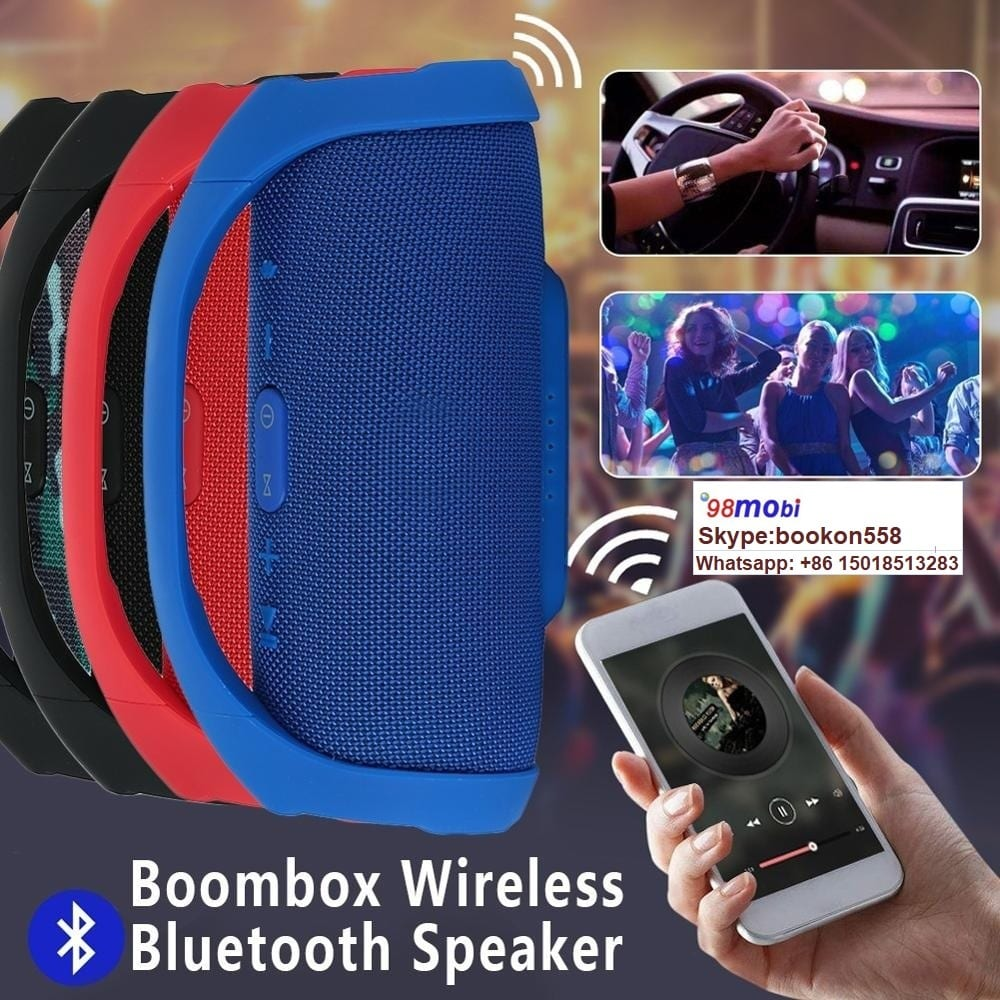 Portable Wireless Speaker Boombox Drums Stereo Speaker for Smart Phone
