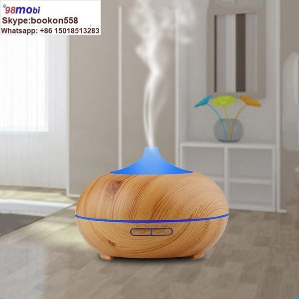 Color Changing LED Light Aroma 300ml Wood Grain Aromatherapy Diffuser