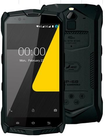 J9s Android 7.0 Rugged Waterproof Smart Phone Wireless Charging Cellphone