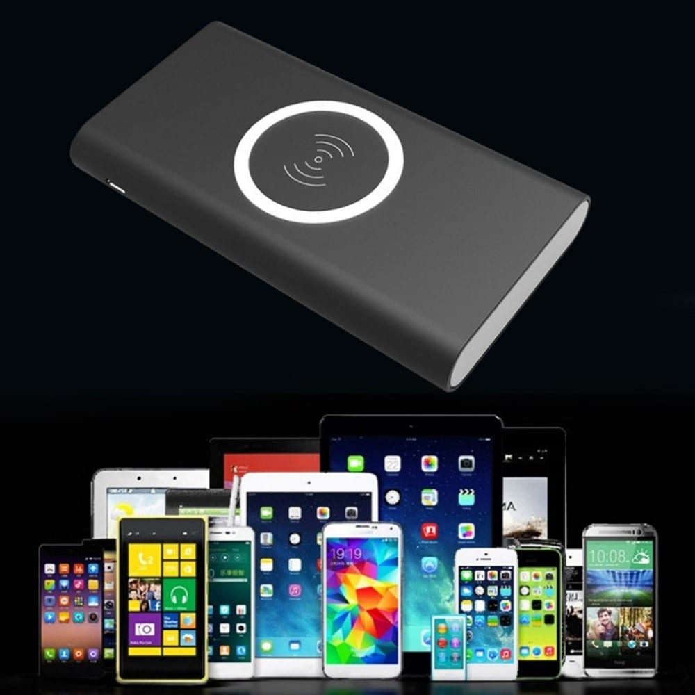 Qi Wireless Charger Mobile Phone Power Bank 8000mAh Wireless Battery