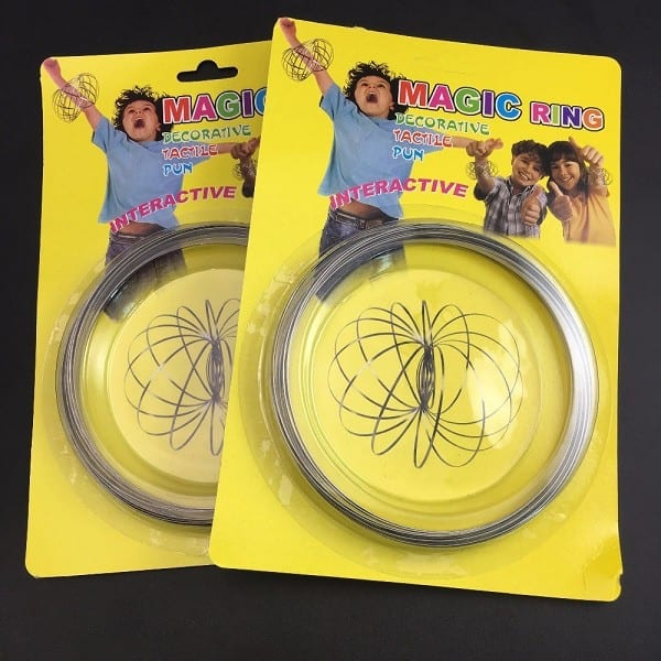 Amazing Flow Ring Toys Kinetic Spring Toy Fidget Spinner Metal