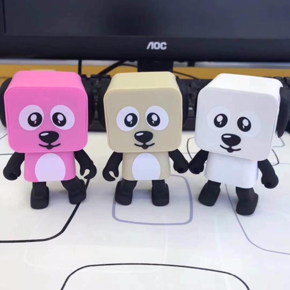 Trapezoidal Roofing Sheet Lamp Bluetooth Speaker - Mini Toy Dog Speaker Bluetooth Dancing Dog Speakers Square Puppy – Wisdom