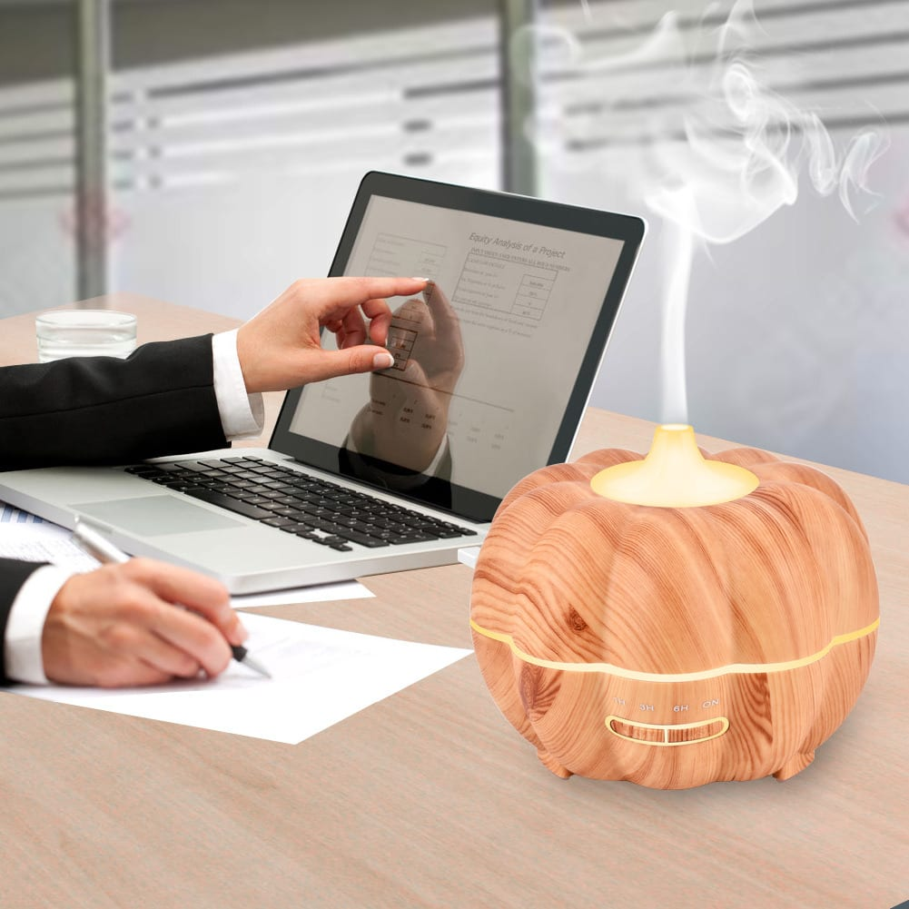 Ultrasonic Air Humidifier Halloween Pumpkin 400ml 7 Colorful Night Lights
