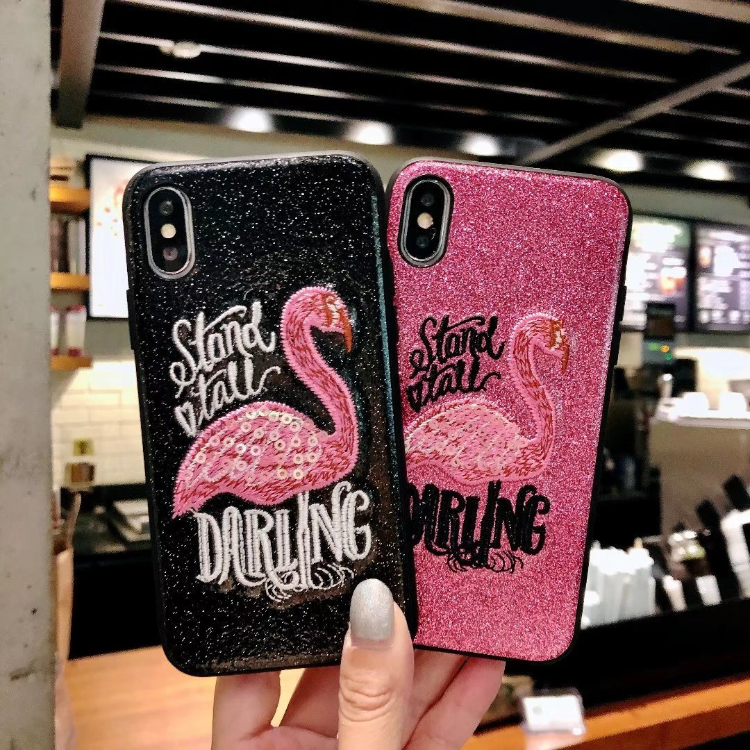 iPhone X iPhone 8 iPhone7 8 Plus Embroidery Phone Case