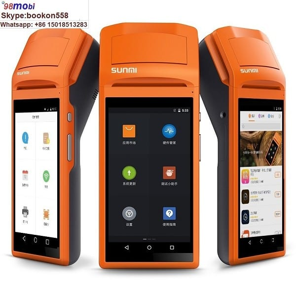 "5.5"" Touch Screen Wirelss Portable Android Bluetooth 58mm Thermal Printer"