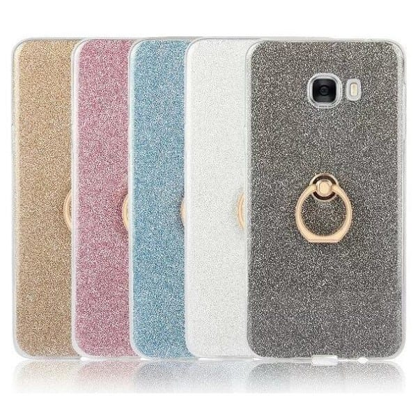 Glitter Finger Ring Buckle Stand TPU Case for Smart Phone
