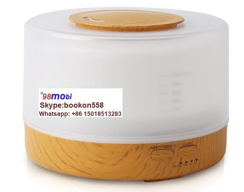 Ultrasonic Wave 500ml Aroma Diffuser Wood Grain Air Electric Humidifier