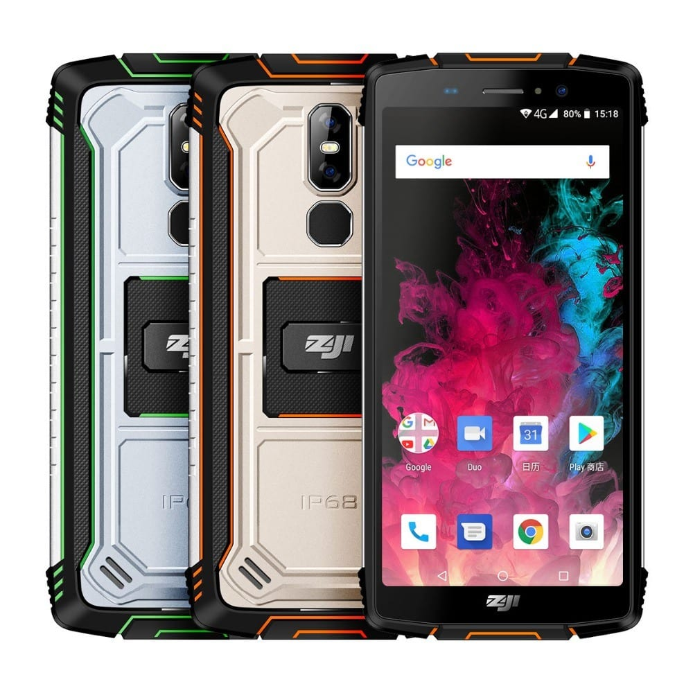 Homtom Zoji Z11 IP68 Waterproof Dust Proof 10000mAh Smart Phone