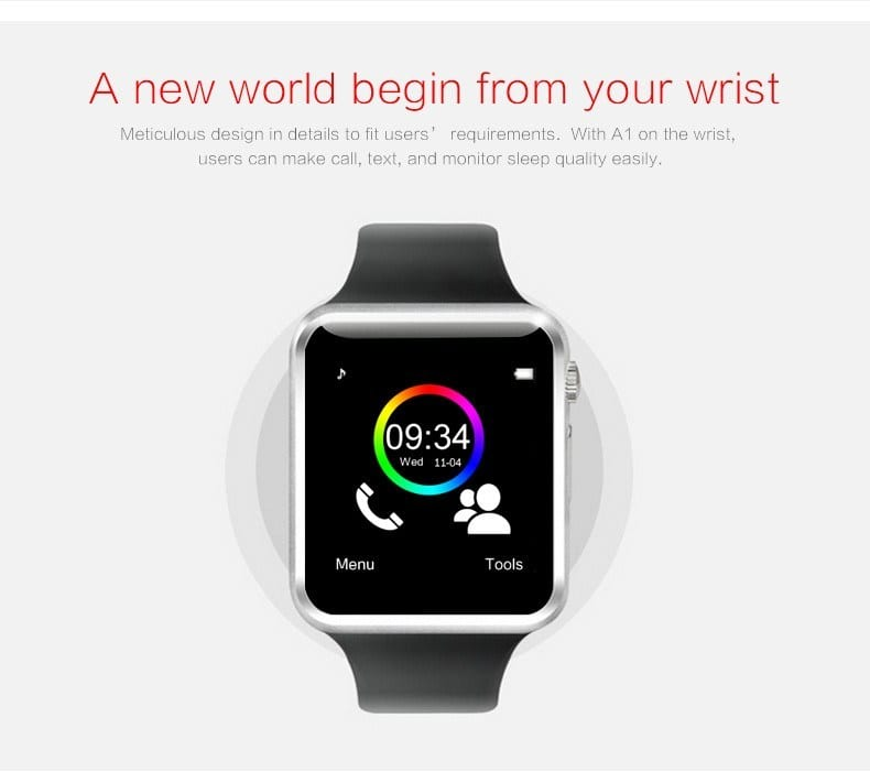 Bluetooth Smartwatch A1 with 2g SIM for Android Smart Phone
