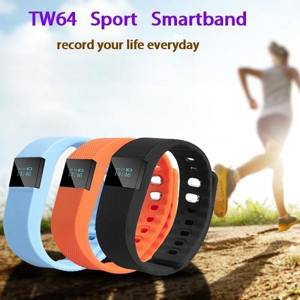 Bluetooth Smart Bracelet Sedentary Reminder Anti-Lost Finding Tw64 Wristband Wristwatch