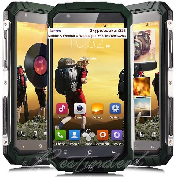 "Rugged Waterproof 5.0"" 3G WCDMA Tri-Proof 5.0"" Smart Phone Cellphone"