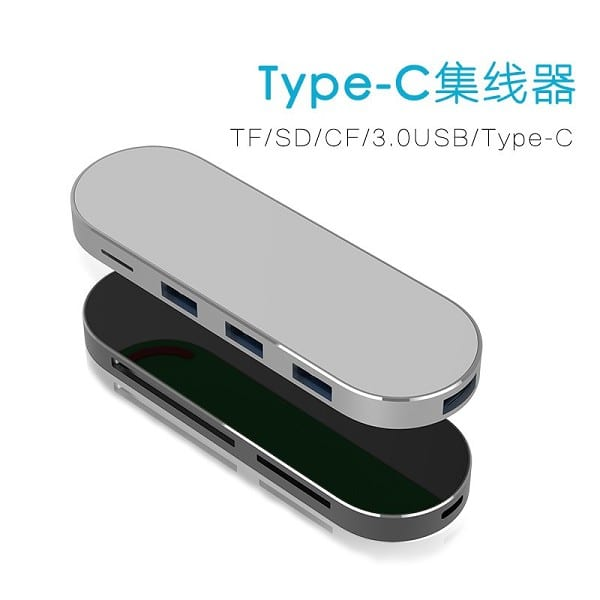Multifunction USB CF/TF/SD Hub Smart Card Reader Docking for MacBook Featured Image