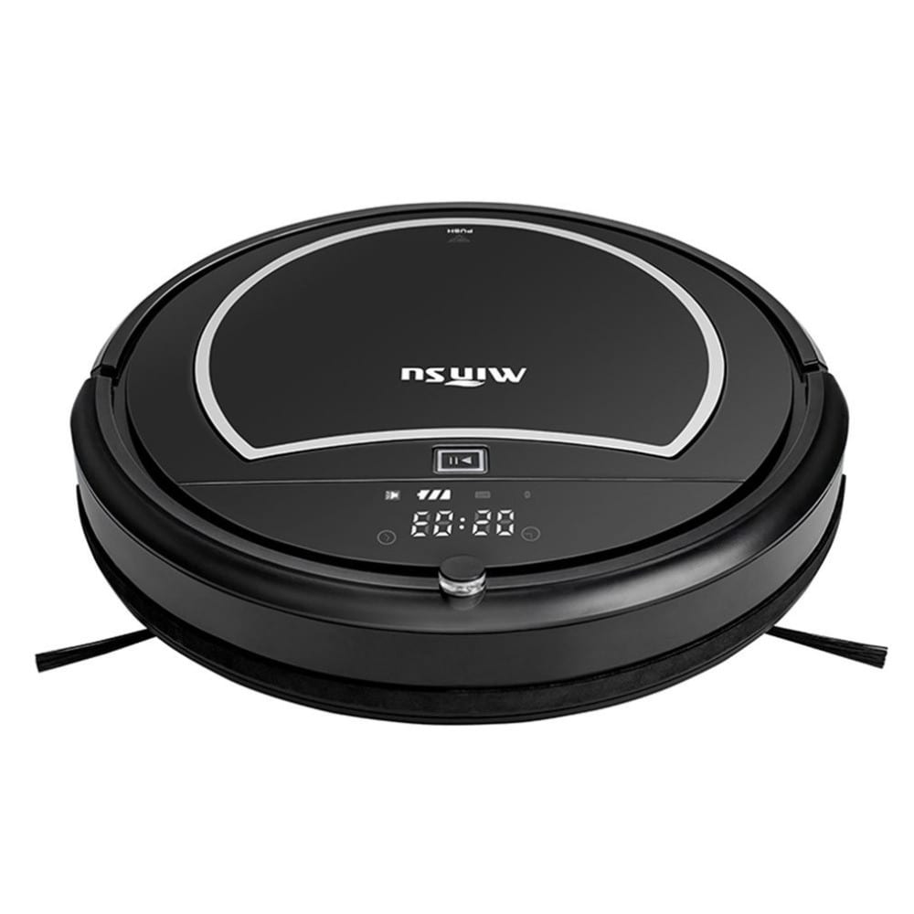 1200PA Robot Vacuum Cleaner Intelligent Self-Charging Wet Dry Vacuum Sweeper
