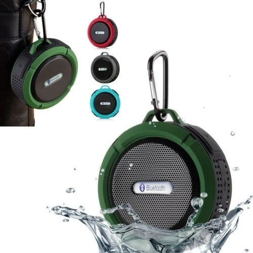 Sucker Outdoor Climbing Bluetooth Stereo Speaker with Hook