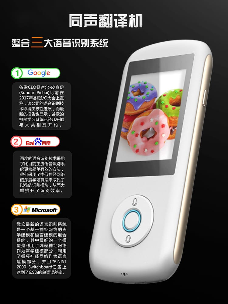 Simultaneous Interpreter Android 6.0 WiFi+4G Portable Voice Translator Multinational Languages