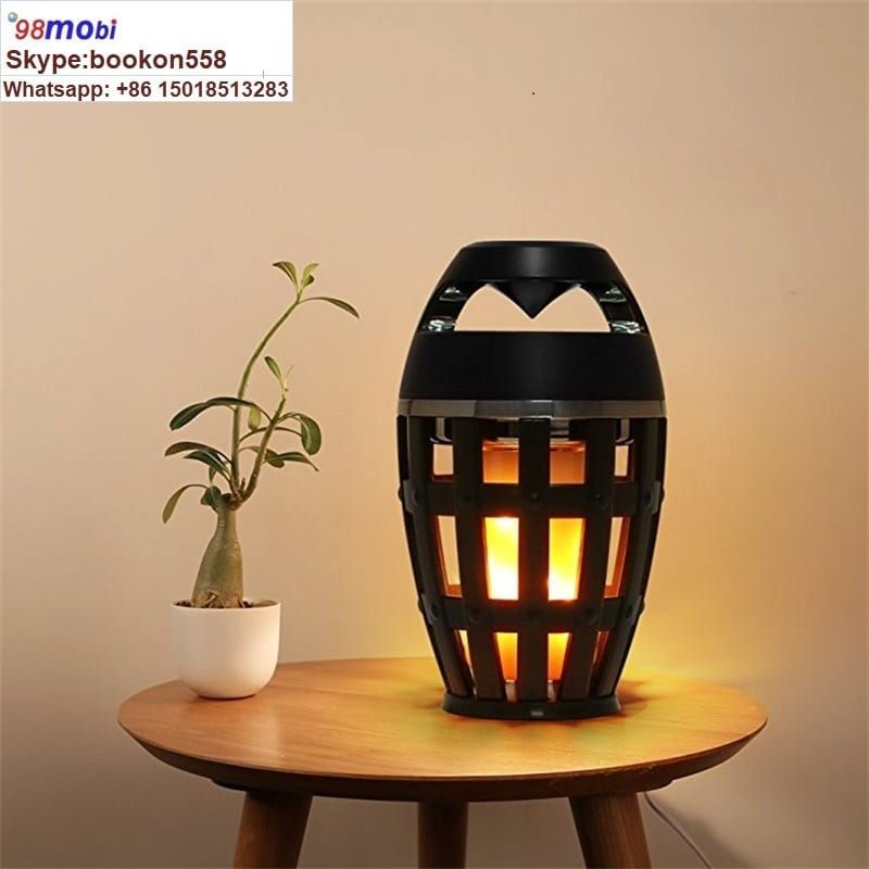 Flame Atmosphere Lamp Light Bluetooth Speaker Portable Wireless Stereo Speaker Featured Image