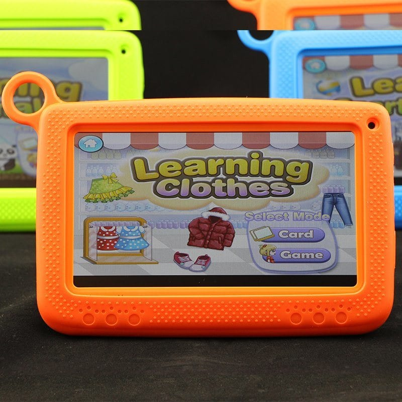 Children Tablet PC with Silicon Bracket Case Kids Edu Pad