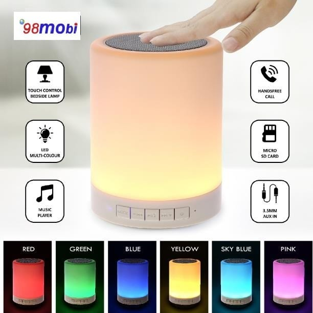 Wireless Bluetooth Intelligent Control Speaker Night Light Color Switch Mode