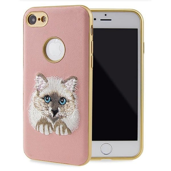 Xiaomi Huawei iPhone Samsung Embroidery Phone Cover Case Animal Pattern