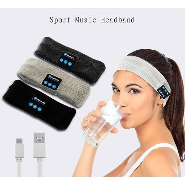 Wireless Bluetooth Music Hat Headband for Sports Headset Yoga Headband