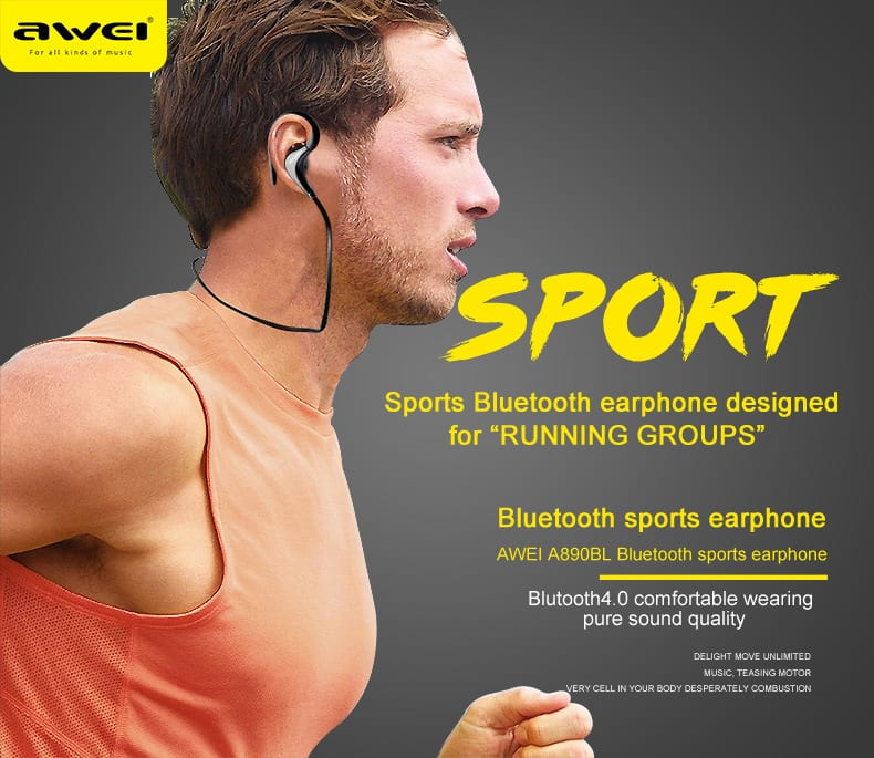 Awei A890bl Sport Wireless Bluetooth Stereo Earphone Headset Earbud Featured Image