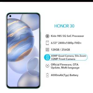 Original Honor 30 6.53 inch 5G Smart Cell Mobile phone