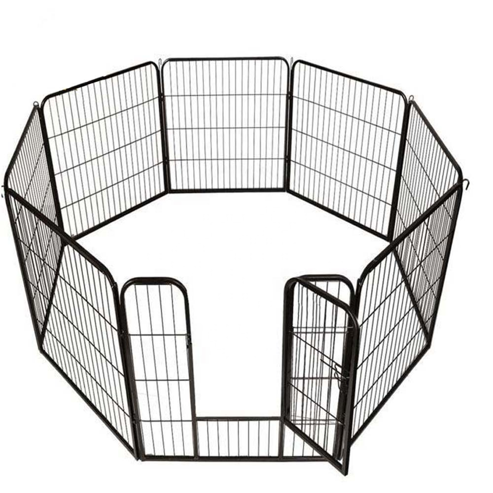 "32"" Pet Playpen For Dogs and Cats Heavy Duty Metal Dog Fence Safety Puppy Playpen"