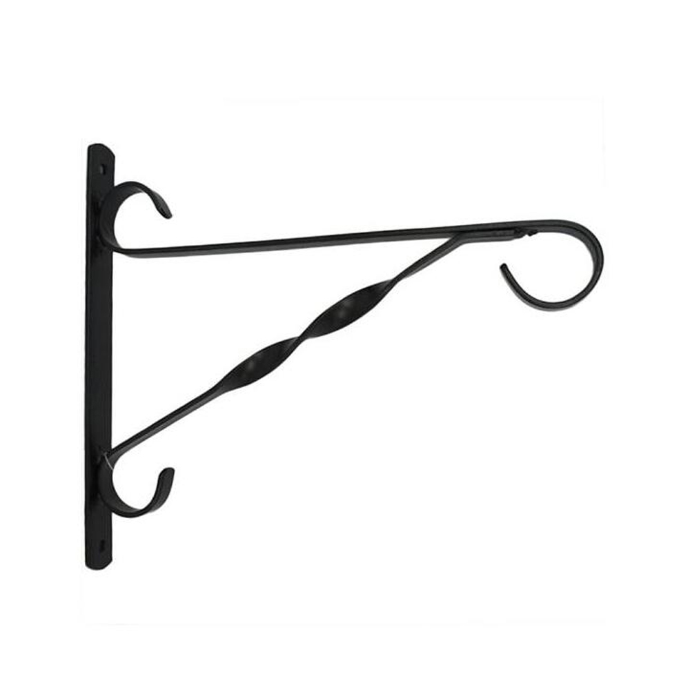 Garden Brackets Crook Lantern Flower Holder Cast Iron Wall Mounted Bracket