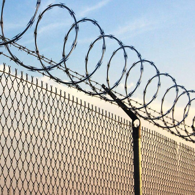 High security Razor Barbed Wire fence for commercial fence