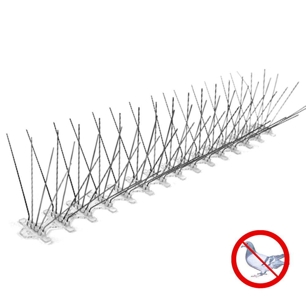 5 rows 75 Spikes Stainless Steel Bird Control  Pigeon Spikes Anti Bird Spikes