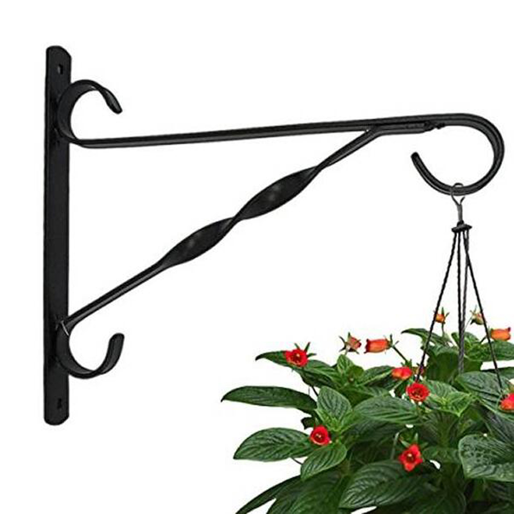 Hook Hanging Potted Flower Basket Bracket Cast Iron Wall Mounted Bracket