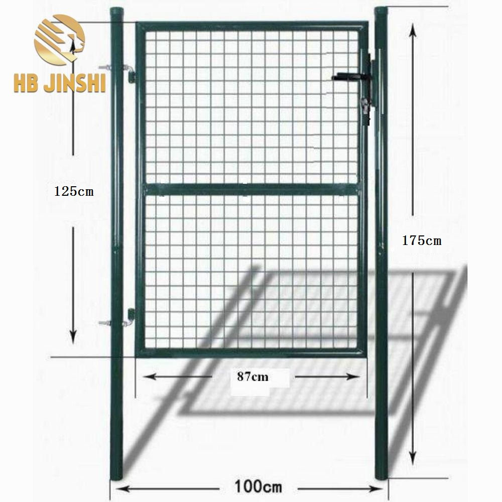 Online Selling Germany Wire Mesh Fence Garden Gate 100 x 125 cm Round Tube Gartentor Iron Gate