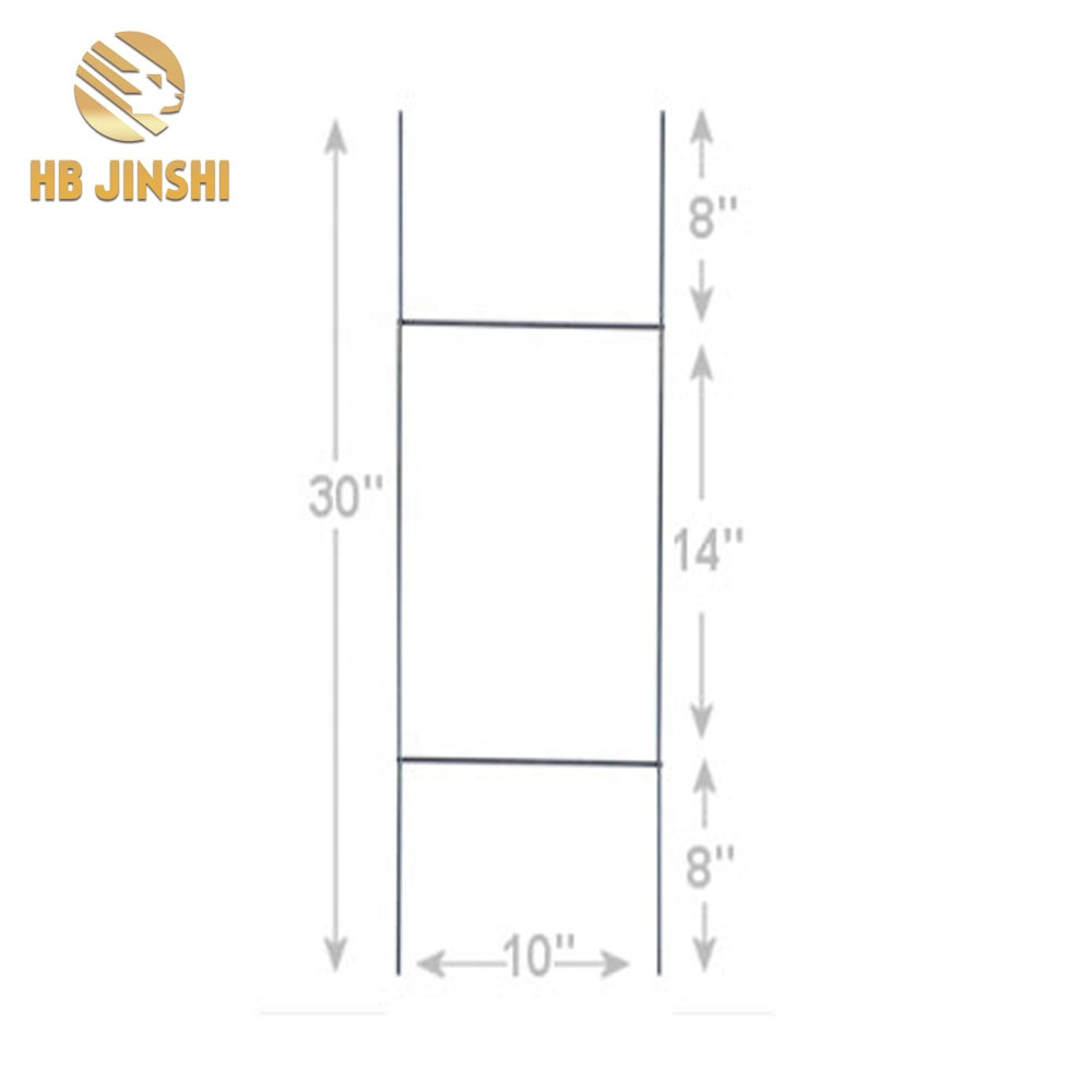 9 GA Galvanized sign H metal stakes