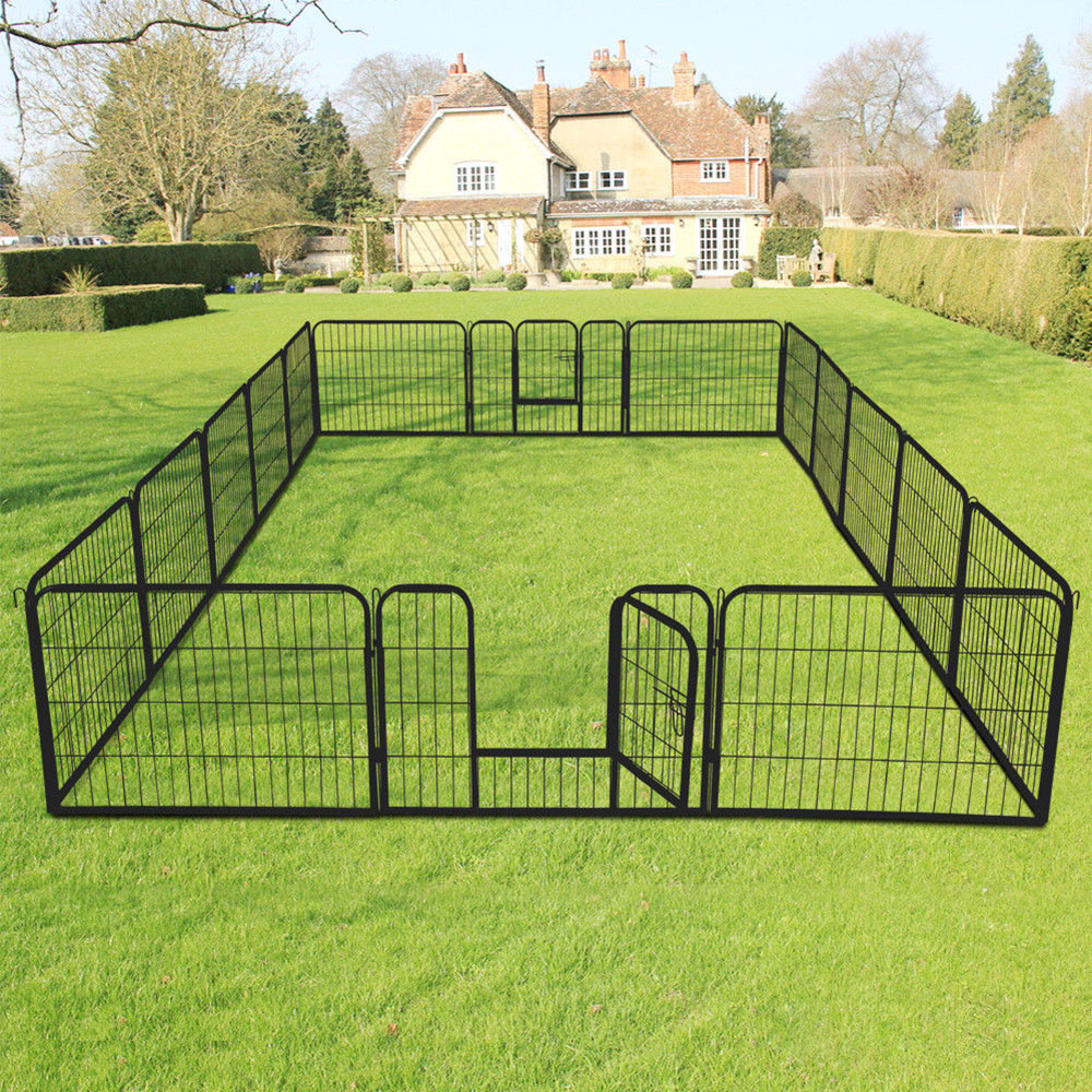Heavy Duty dog play Pen Pet Exercise Playpen 8 Panel dog fence