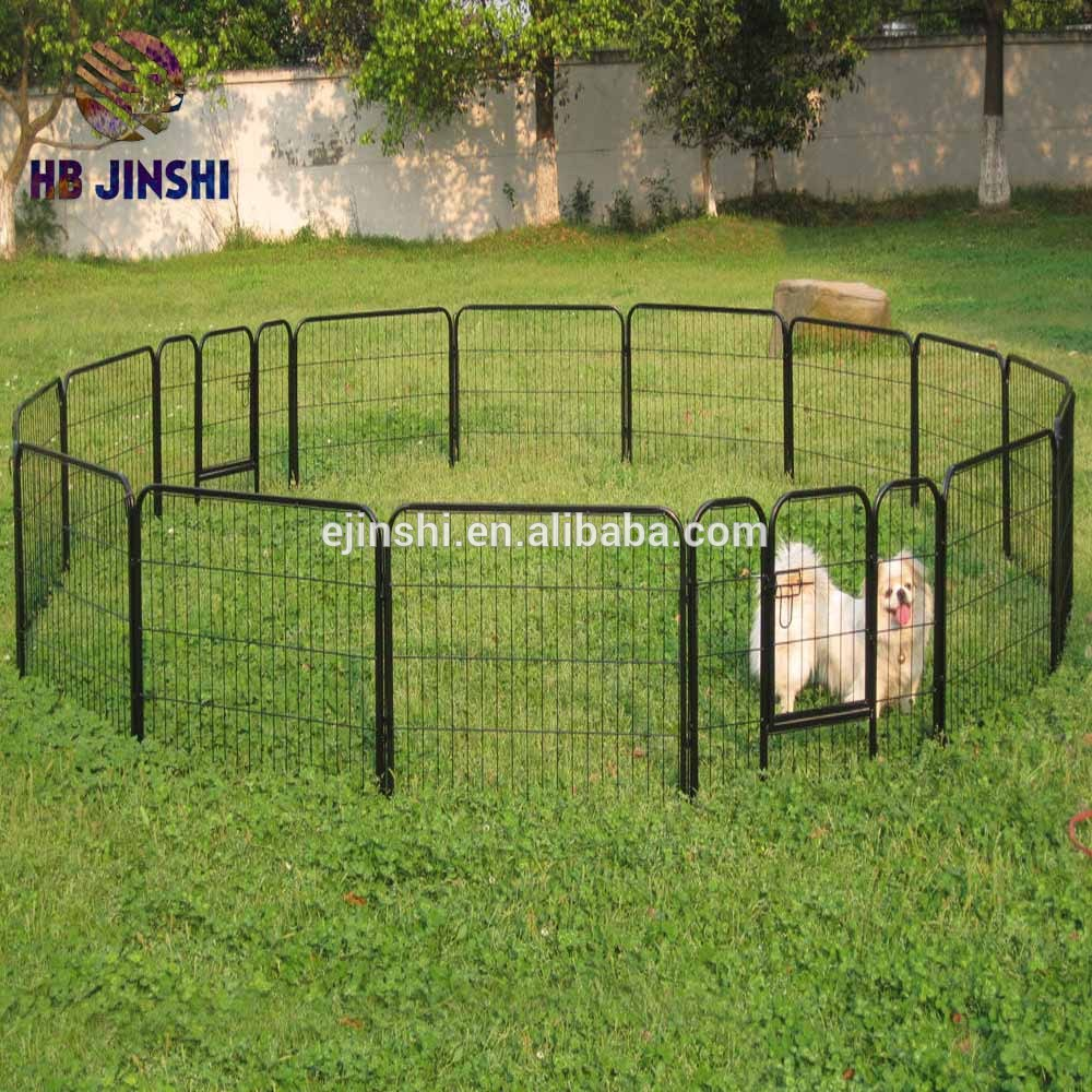 16pcs Pet Dog Cat Barrier Fence Exercise Metal PlayPen