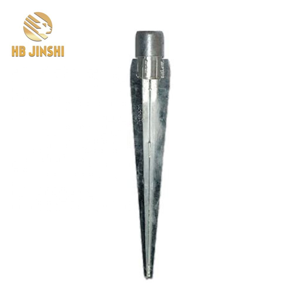 Galvanized Earth Screw Anchors / Concrete Post Anchor / Germany Ground Anchors