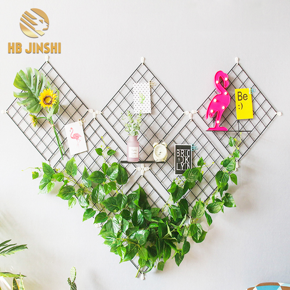 Home Decoration 35*35cm Exhibition Display Photo Wall Grid Metal Wire Mesh Grid Panel